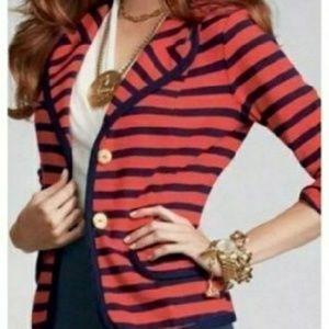 Womens Nautical CAbi Yacht Club Blazer sz M
